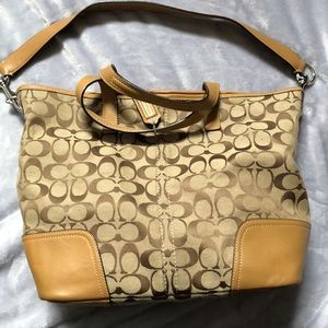 Coach monogram satchel bag